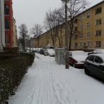 Marciapiede innevato Berlino