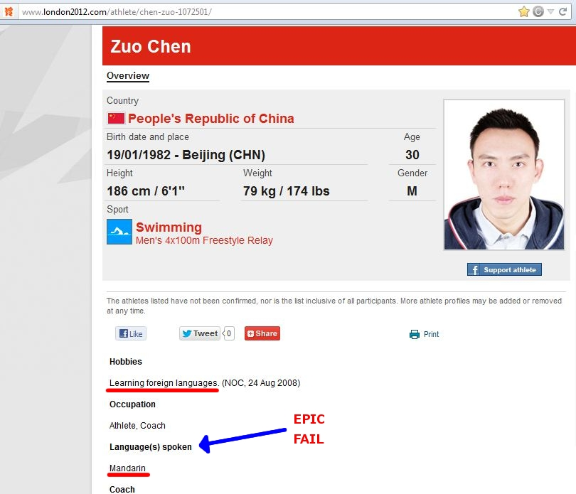 Zuo Chen epic fail