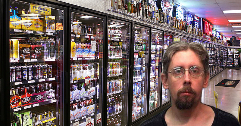 Uomo bloccato nel frigorifero delle birre