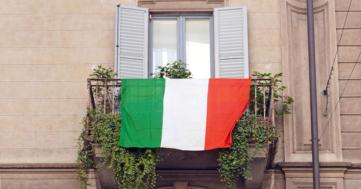 Bandiera sul terrazzo